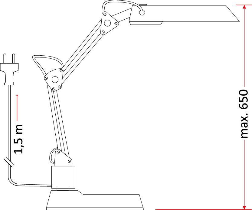 Lampka biurkowa SIGMA